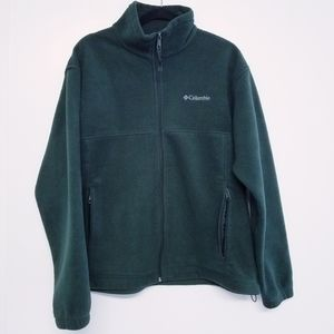 Columbia green full zip fleece jacket size L